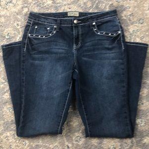 Earl Jean Women's Size 10 Back Button Flap Pockets